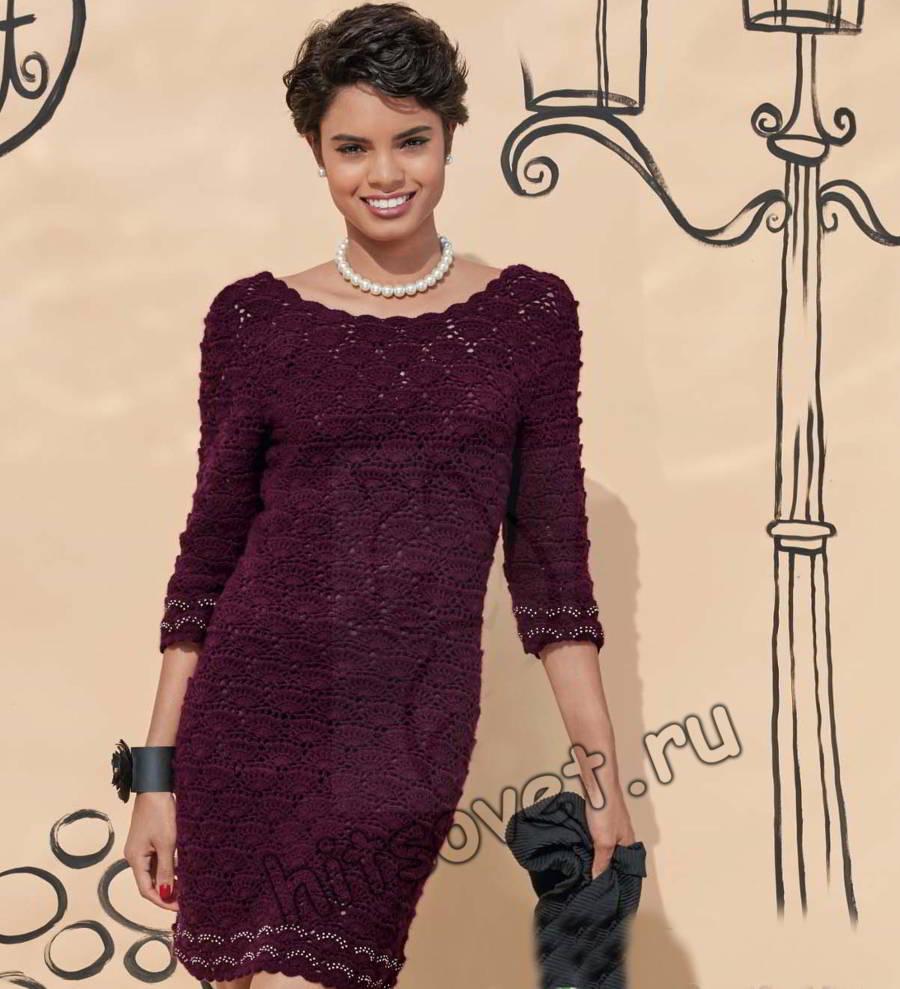 Платье красивое крючком, фото 1.