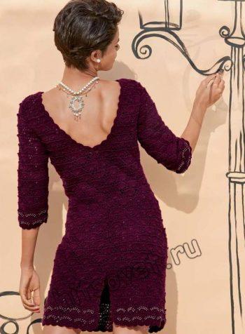 Платье красивое крючком, фото 2.