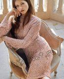 Ажурное вязаное платье, фото.