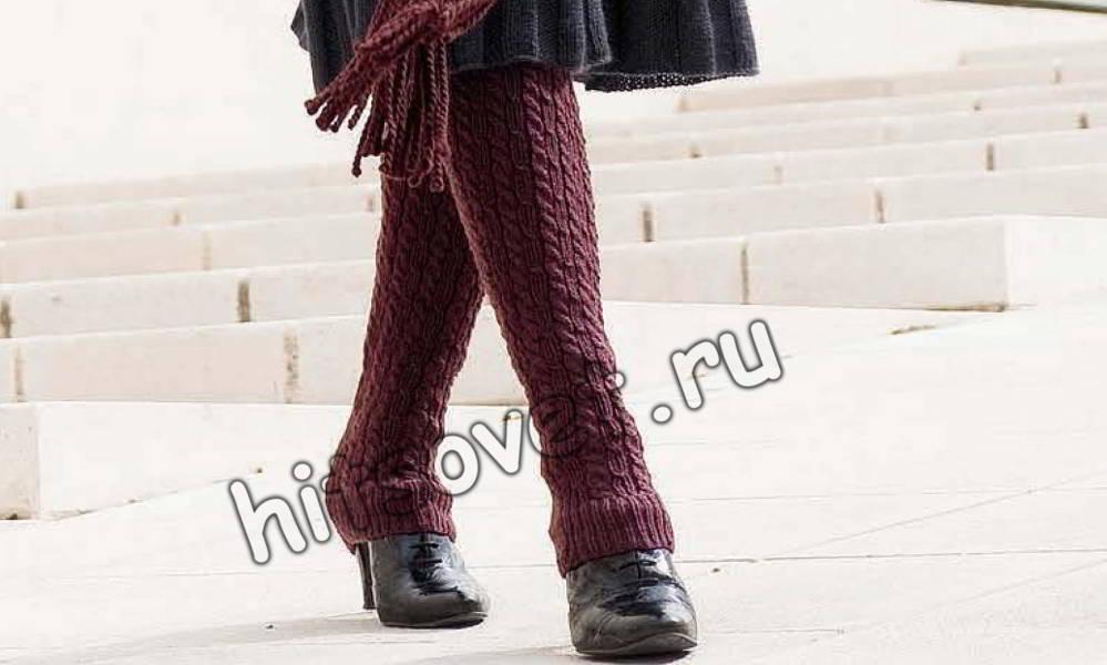 Вязаные носки спицами и крючком с описанием