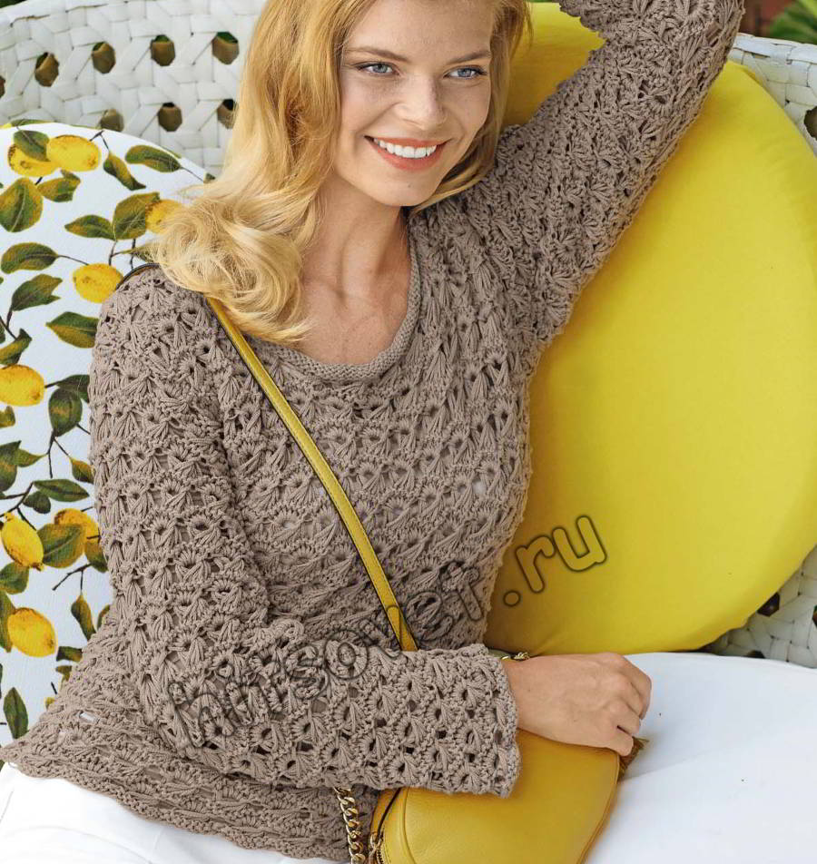 Красивый пуловер вязание