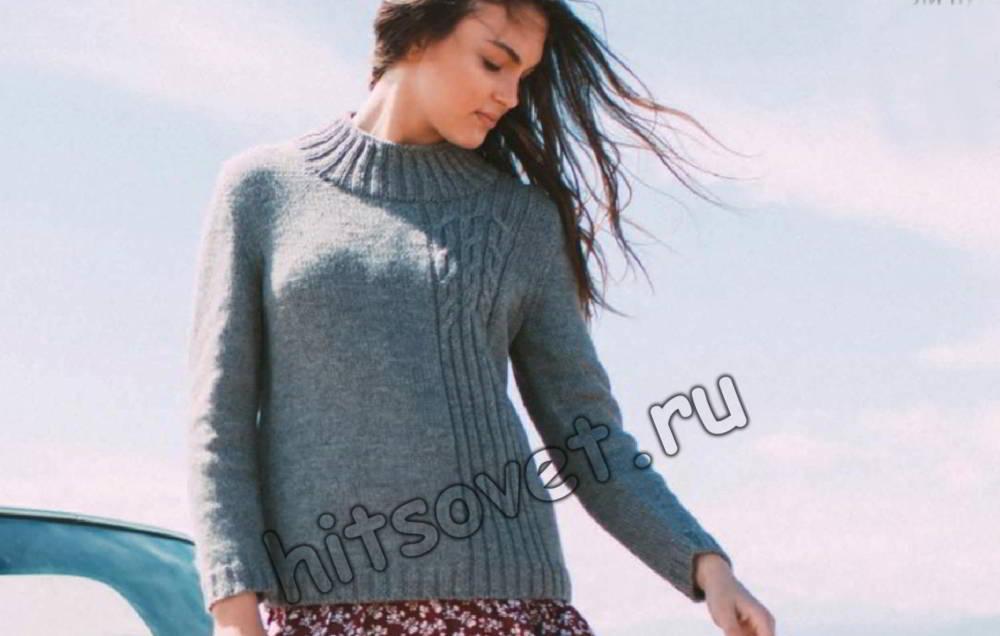 Модный вязаный свитер, фото.