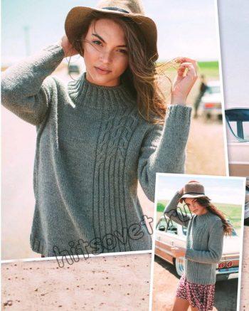 Модный вязаный свитер, фото 2.