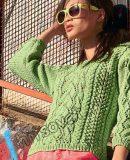 Вязание джемпер с косами, фото.