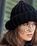 Вязание шапки резинкой, фото.