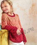 Вязание джемпера для девочки, фото.