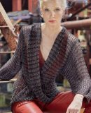 Пуловер с эффектом запаха, фото.