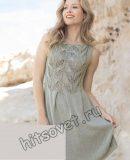 Вязаное модное платье, фото.
