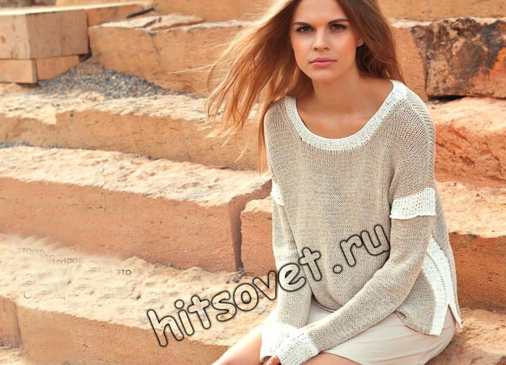 Модный вязаный пуловер 2018, фото.