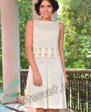 Платье из хлопка на лето, фото.