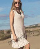 Вязаное платье с оборками, фото.