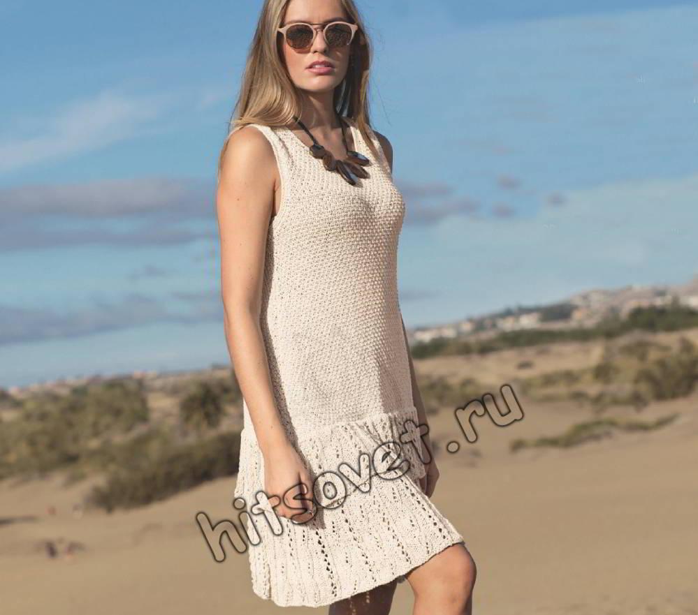 Вязаное платье с оборками