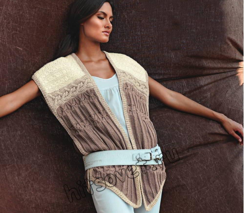 Женский модный жилет, фото.