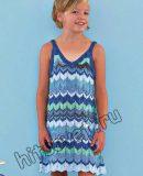 Вязание платья для девочки, фото.