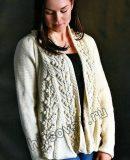 Жакет с рельефным узором, фото.
