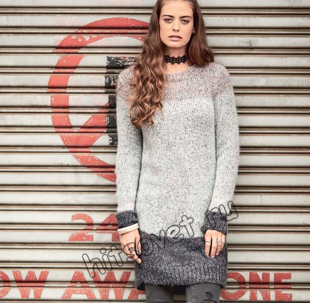 Длинный свитер, фото.