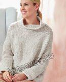 Серый вязаный свитер, фото.