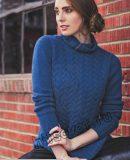 Модный свитер вязаный, фото.
