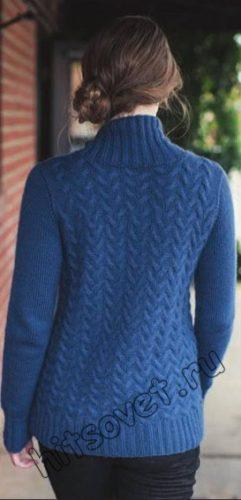 Модный свитер вязаный, фото 2.