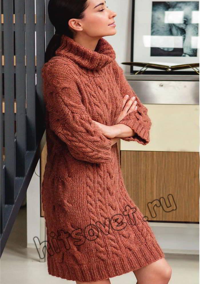 Платье свитер, фото.