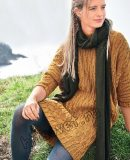 Платье свитер спицами, фото.