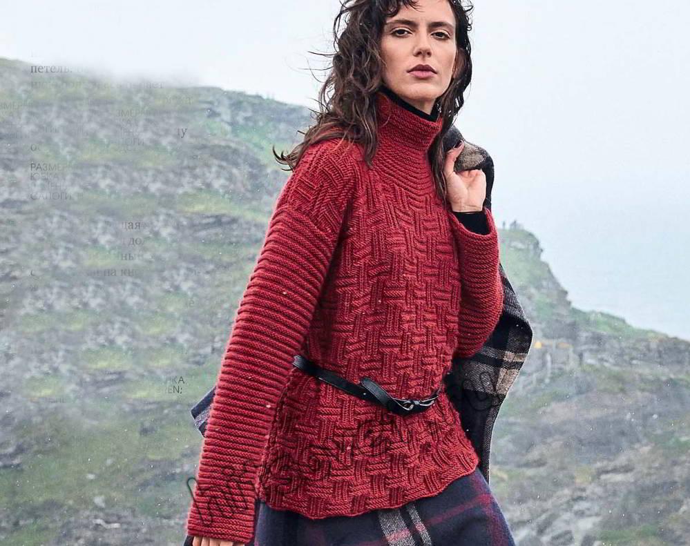 Рельефный свитер, фото.