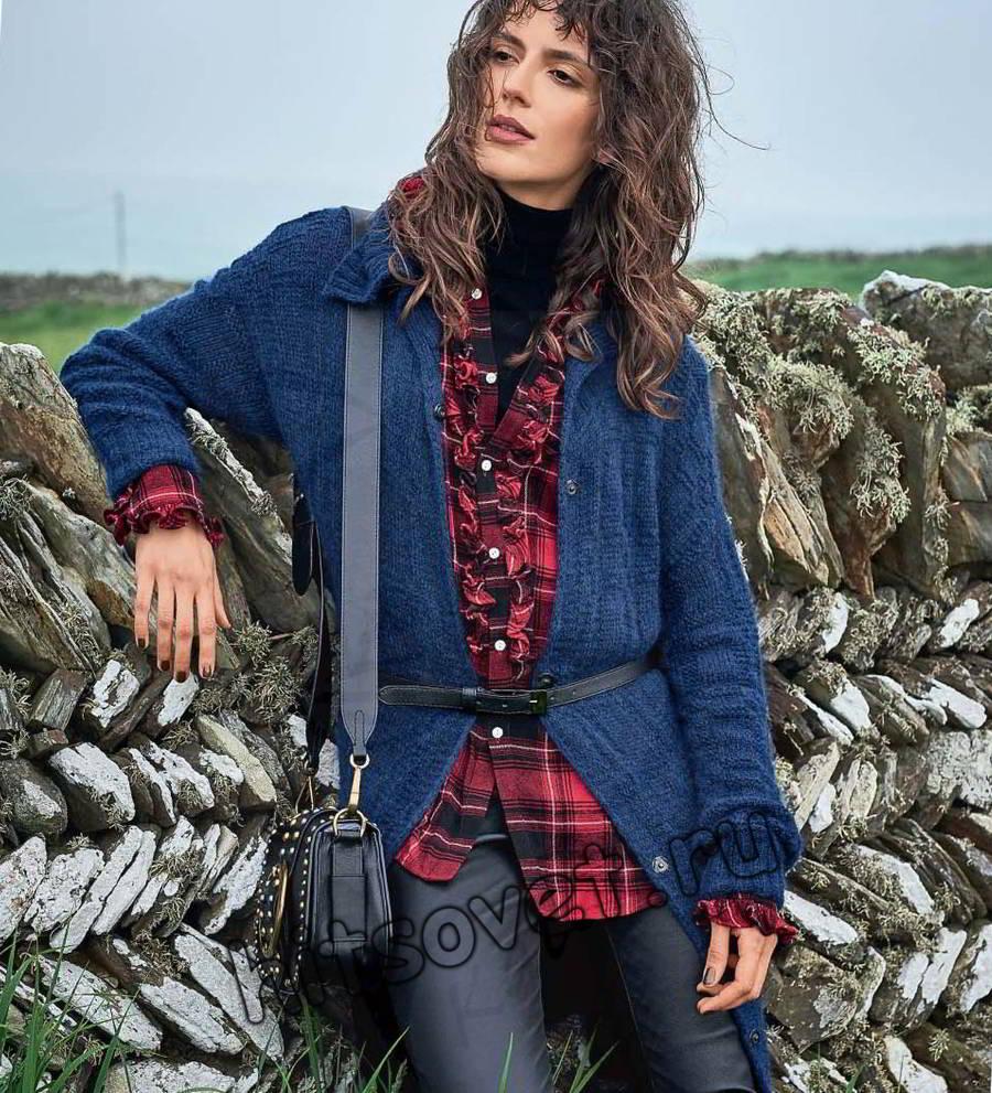 Вязание кардигана с карманами, фото.