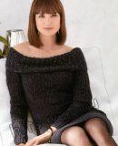 Черное вязаное платье, фото 1.
