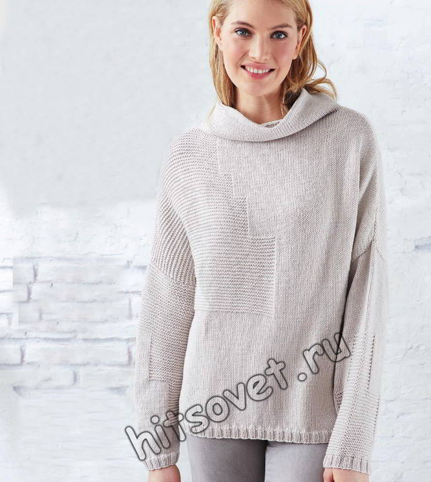 Модный свитер оверсайз, фото.