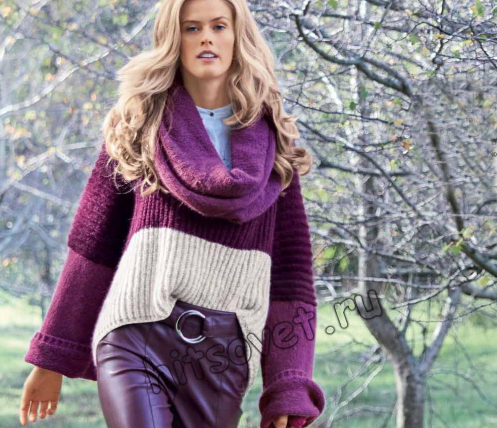 Объемный пуловер, фото.