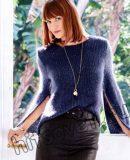 Пуловер с длинными разрезами на рукавах, фото 1.