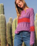 Пуловер со вставками, фото.