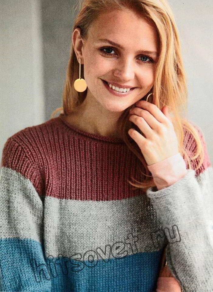 Полосатый свитер, фото 2.