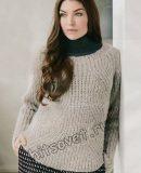 Пуловер с фигурным полупатентным узором, фото 1.