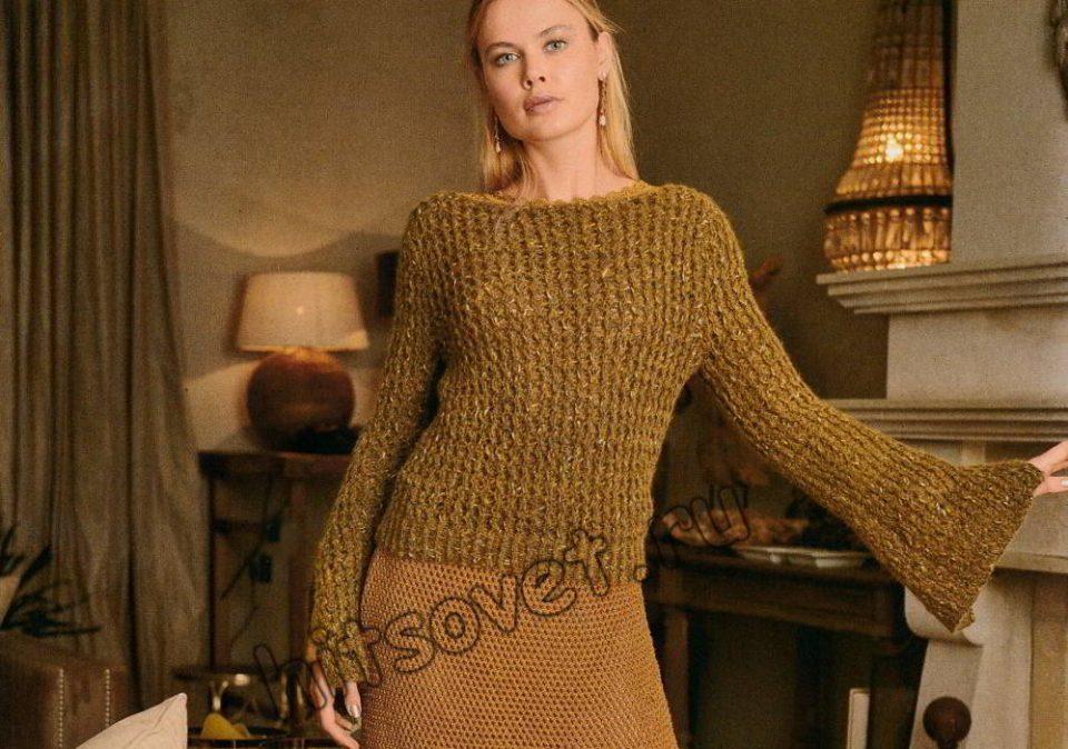 Пуловер модный женский, фото.