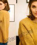 Пуловер с рельефной отделкой, фото 1.
