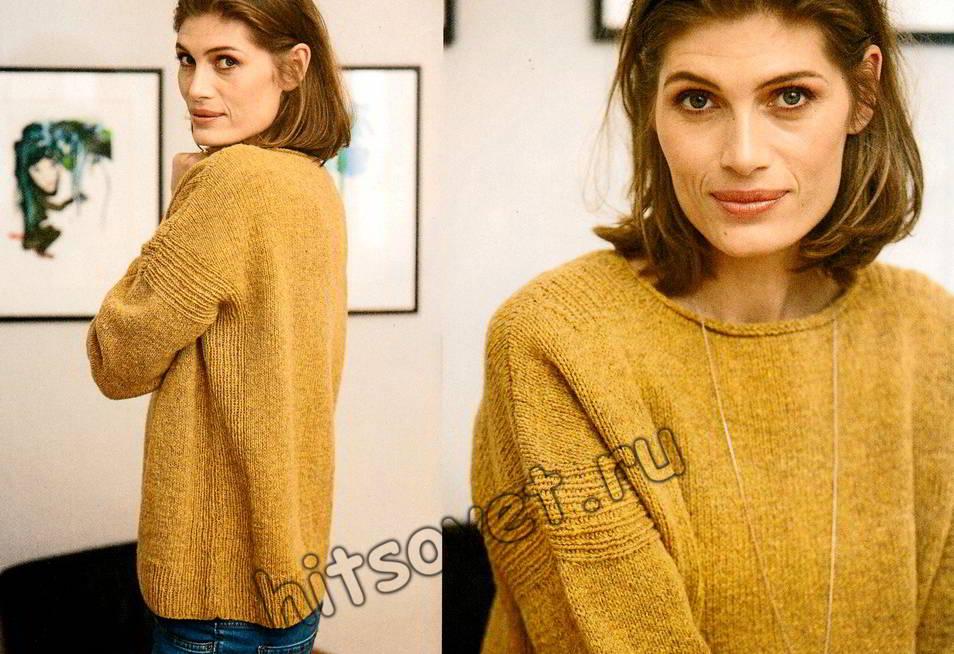 Пуловер с рельефной отделкой