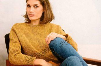 Пуловер с рельефной отделкой, фото 2.