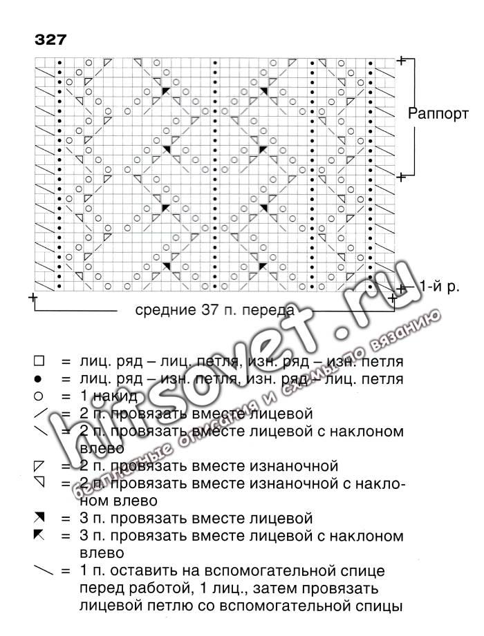 Схема джемпера с v-образным вырезом