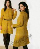 Вязаное платье из мохера, фото 1.