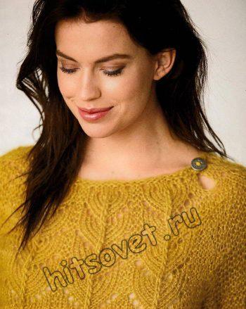 Вязаное платье из мохера, фото 2.