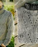 Мужской свитер патентным узором