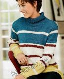 Женский полосатый свитер