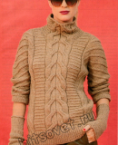 Пуловер и митенки