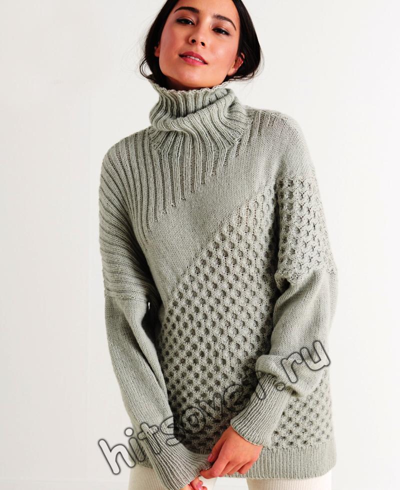 Стильный женский свитер, фото.