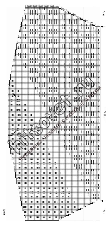 Схема женского свитера