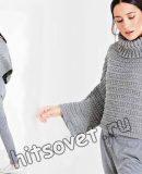 Короткий свитер оверсайз