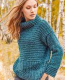 Модный свитер 2019 спицами
