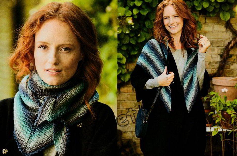 Модный вязаный платок, фото 2.