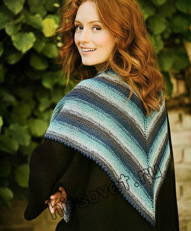 Модный вязаный платок, фото 1.